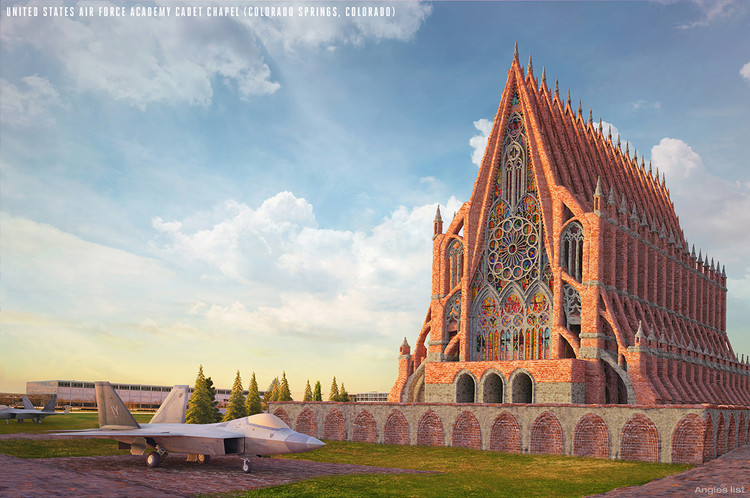 Iconic American Buildings Re Envisioned In The Gothic