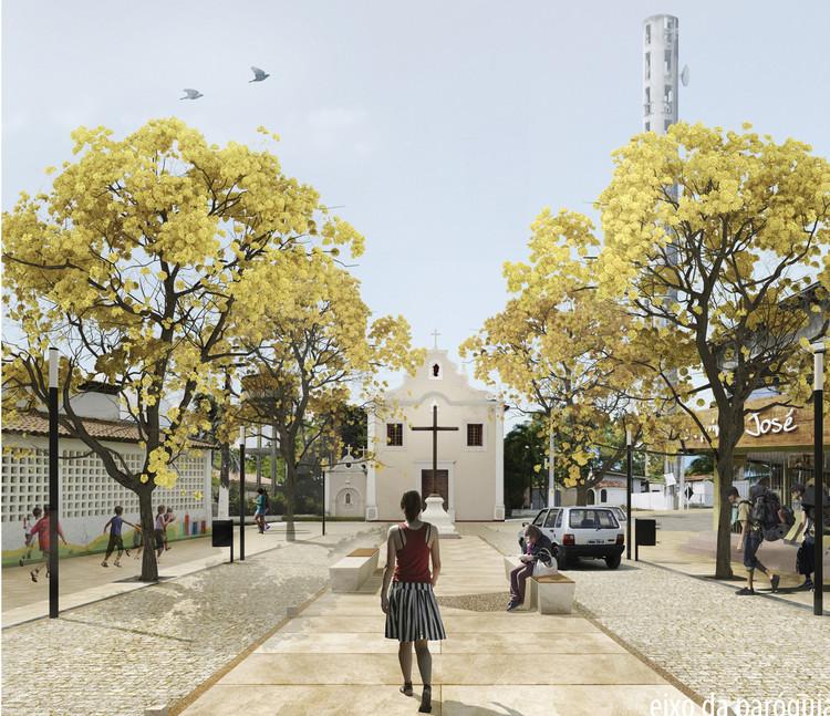 Resultado do Concurso para a reurbanização da área central de Conde, Paraíba, Projeto - 1º Lugar. Image Cortesia de Prefeitura de Conde