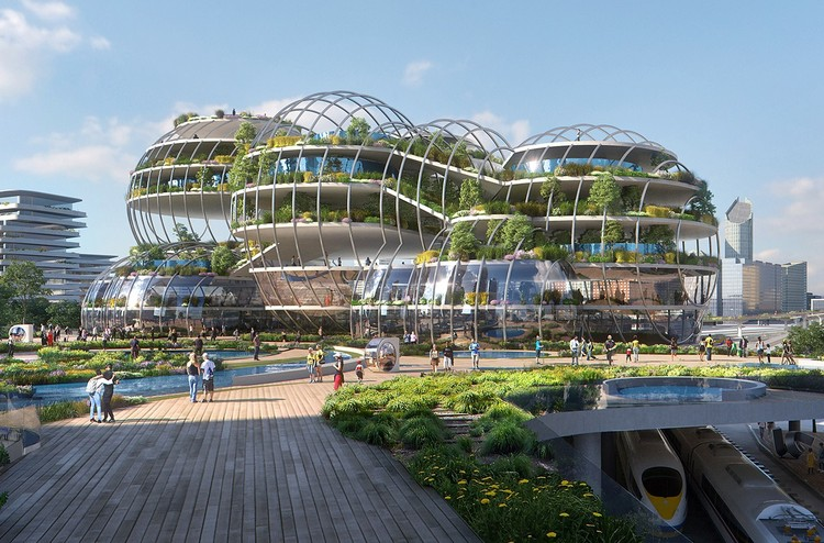 UNStudio Designs a City of the Future for The Hague, City of the Future. Image Courtesy of Plompmozes