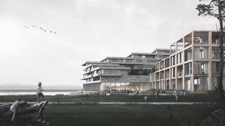 Sustainable Startup Beats out BIG, Henning Larsen for a New Eco-Village in Copenhagen, UN17. Image Courtesy of tmrw.se