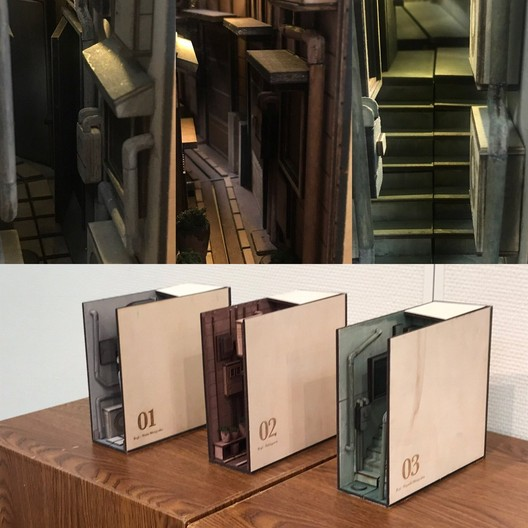These Crafted Bookends are Inspired by the Alleyways of Tokyo