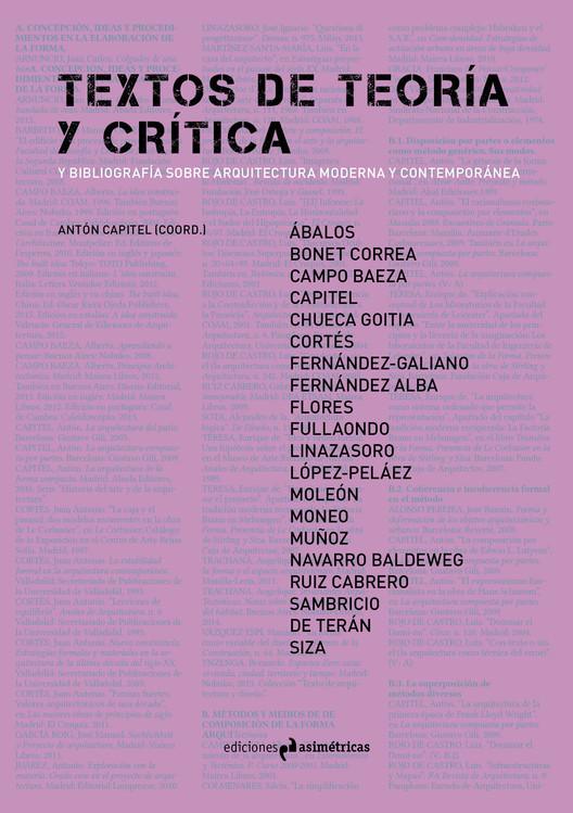 Textos de teoría y crítica y bibliografía sobre arquitectura moderna y contemporánea