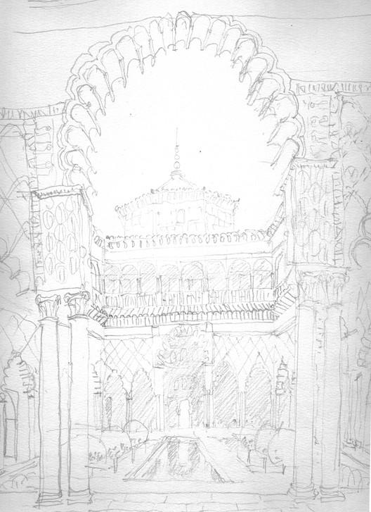Alcazares Sketch. Image Courtesy of Rogelio Ruiz Fernández