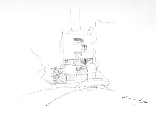 Gobierno Civil Tarragona Sketch. Image Courtesy of Rogelio Ruiz Fernández
