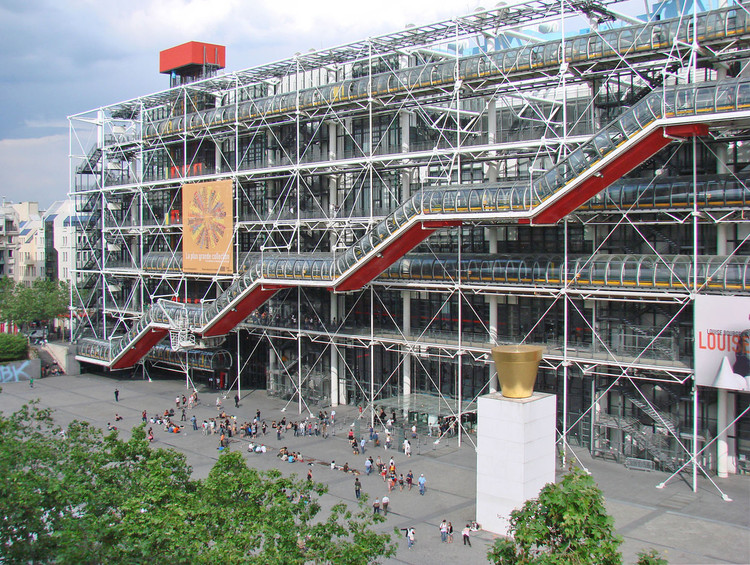 Richard Rogers Wins the 2019 AIA Gold Medal, Centre Georges Pompidou / Richard Rogers + Renzo Piano. Image © Flickr user dalbera licensed under CC BY 2.0
