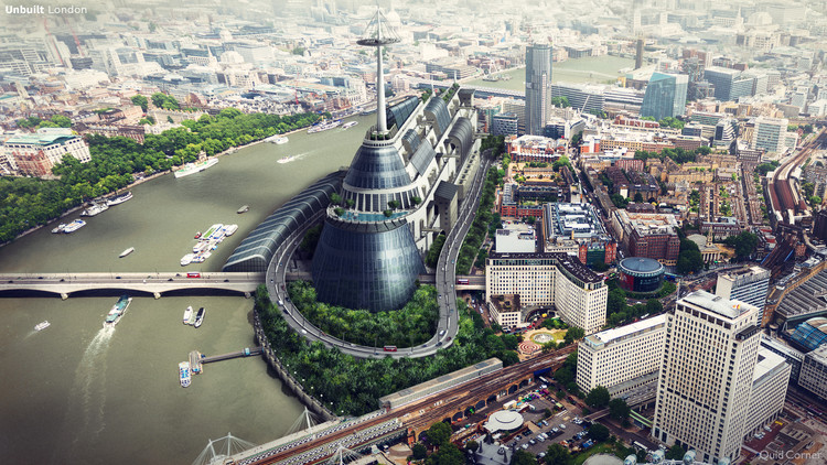 What 6 British Cities Could Have Looked Like, Unbuilt London. Image © QuickQuid / Neomam
