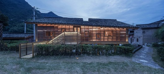 North facade of the book house. Image © Yilong Zhao