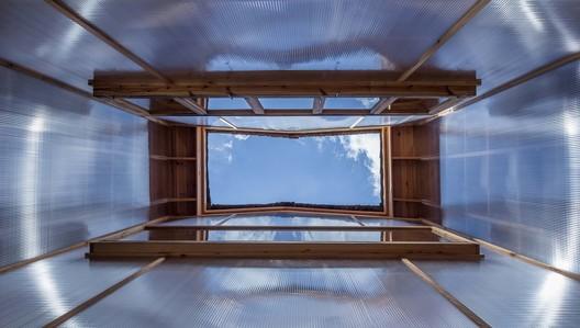 Inside the patio. Image © Yilong Zhao