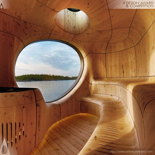 Grotto Sauna - PARTISANS - Canada. Image © A' Design Awards