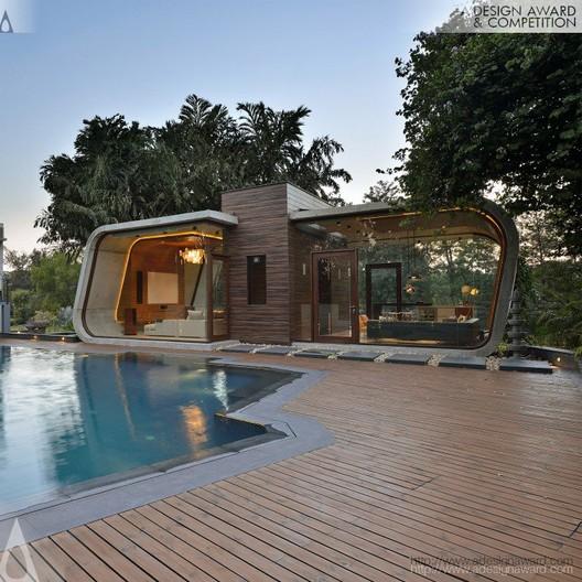 Pool House Residential - Priyanka Khanna and Rudraksh Charan - India. Image © A' Design Awards