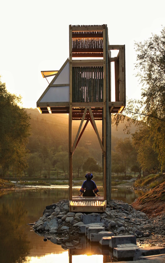 The Mirrored Sight Shelter Viewing House, Tea House - Li Hao - One Take Architects - China. Image © A' Design Awards