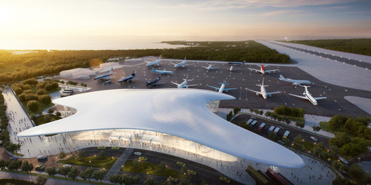Gelendzhik Airport. Image Courtesy of Studio Fuksas