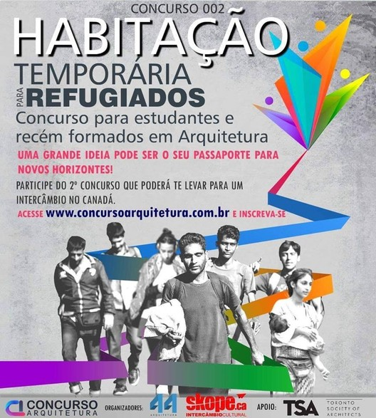 Concurso 002 - Habitação Temporária para Refugiados, Crédito: Concurso Arquitetura