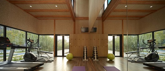 Fitness house interior. Image © Su Chen, Chun Fang