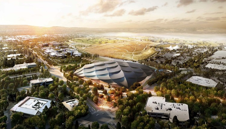 Google Reveals North Bayshore Campus Plan, Google Mountain View Campus. Image Courtesy of Google