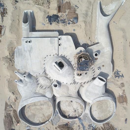 Concrete Shell Construction Photo. Image Courtesy of OPEN Architecture