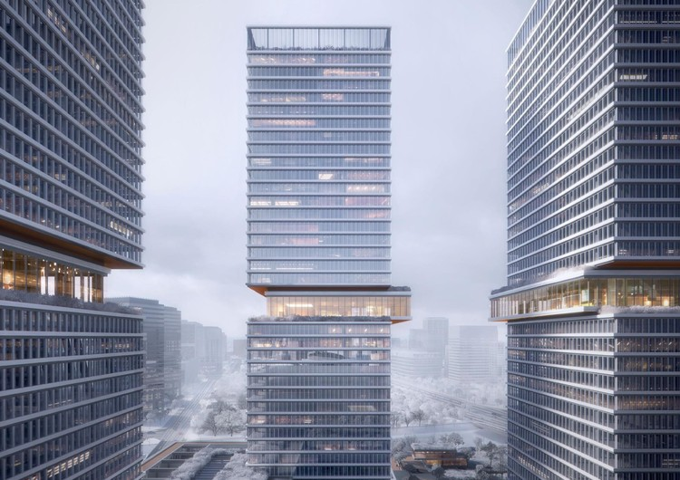 """KPF Proposes a New """"Participatory Urbanism"""" with Shanghai Towers, Courtesy of Plompmozes"""