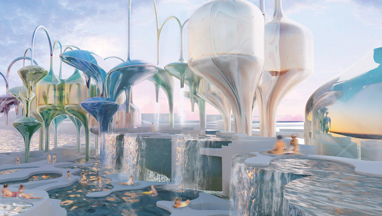 "Laka Reveals Winners of the 2018 ""Architecture that Reacts"" Competition, First Prize: Tidal Terrains / Mary Denam. Image via Laka"