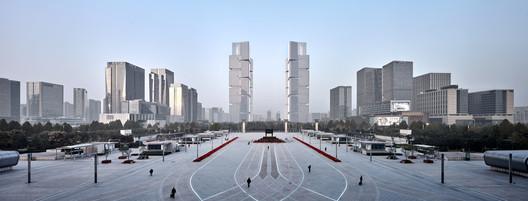 Zhengzhou Twin Towers / gmp Architects. Image © Jianghe Zeng