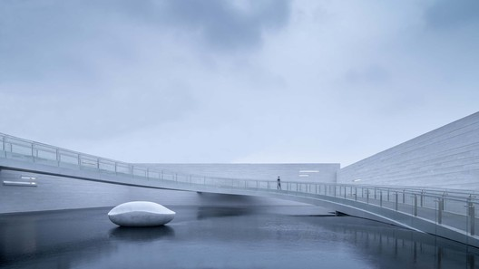 Floating bridge as an installation. Image © Xingzhi Architecture