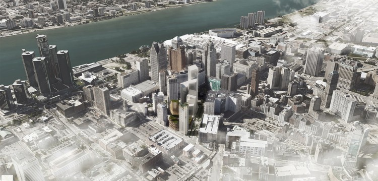 Schmidt Hammer Lassen's First U.S. Project Breaks Ground in Detroit, © Schmidt Hammer Lassen Architects