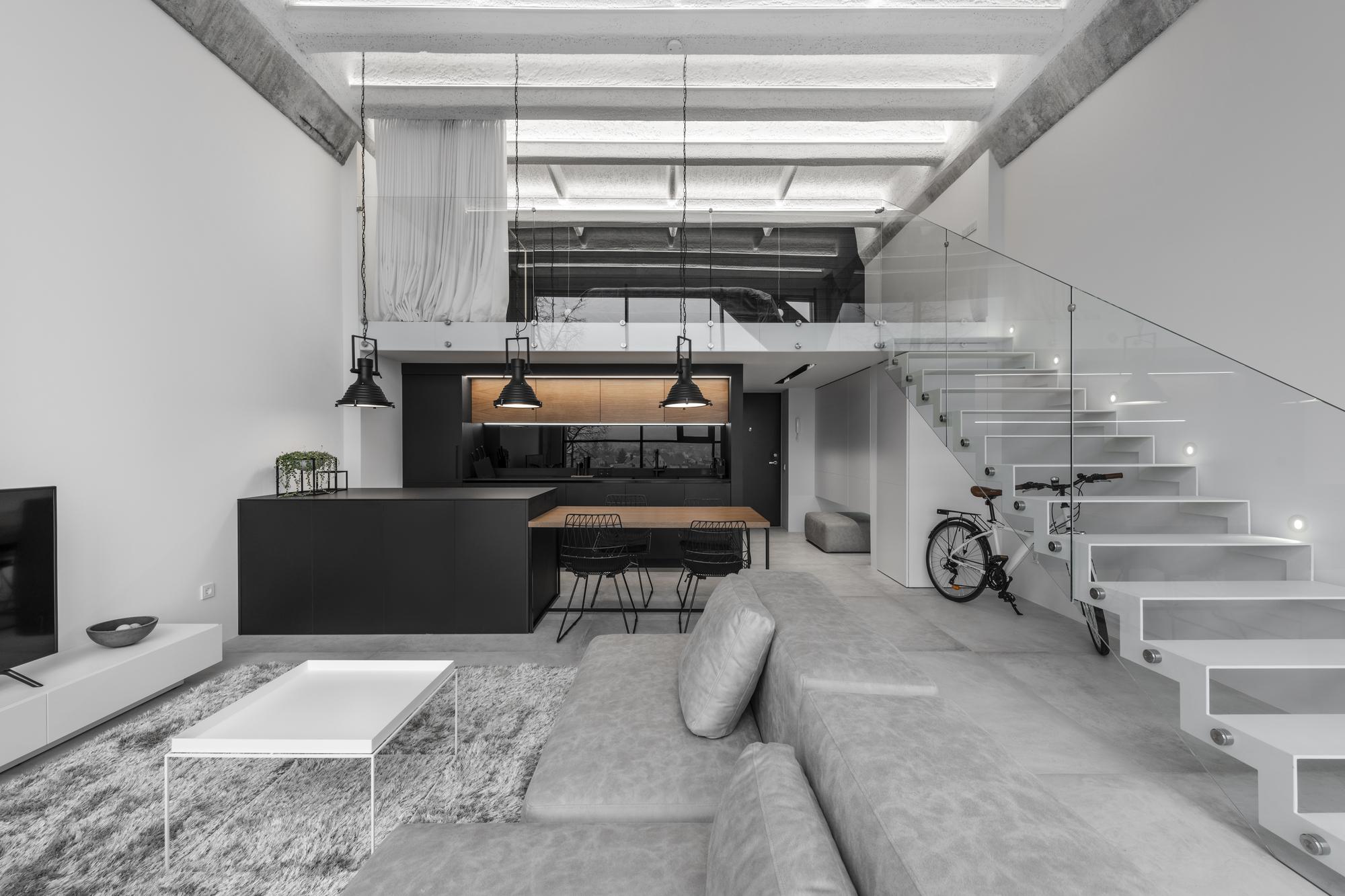 Loft industrial minimalista idwhite plataforma for Design minimalista