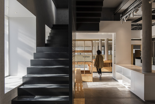 Stairs connected with window frame. Image Courtesy of FON STUDIO