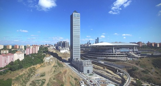 The Nurol Life building in Istanbul was the only tall building completed in Europe this year. Image © Arma Elektropanc