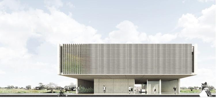 Conheça os vencedores do concurso para a nova sede do CAU/TO, Primeiro Lugar. Image via CAU/TO