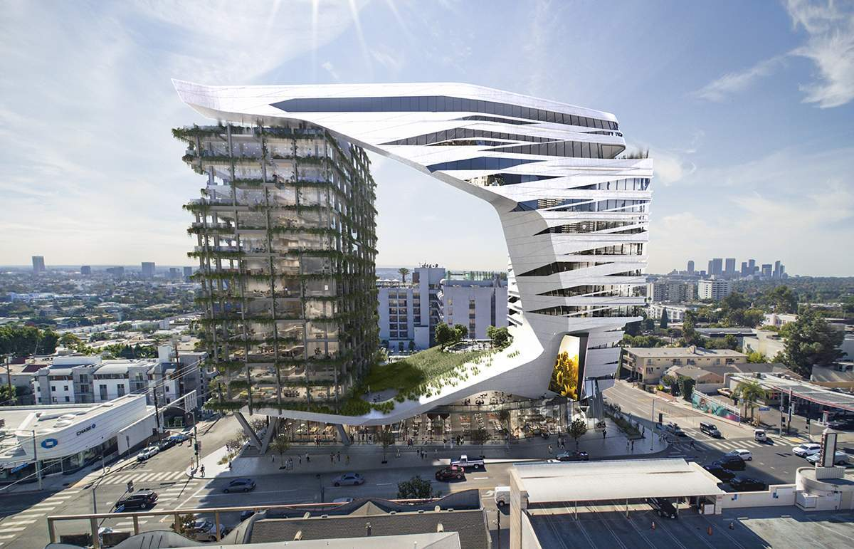 Morphosis designs a 15 story hotel for l a 39 s sunset strip - Interior design colleges in los angeles ...