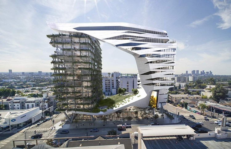 Morphosis Designs a 15-Story Hotel for L.A.'s Sunset Strip, 8850-8878 Sunset Boulevard. Image Courtesy of Morphosis