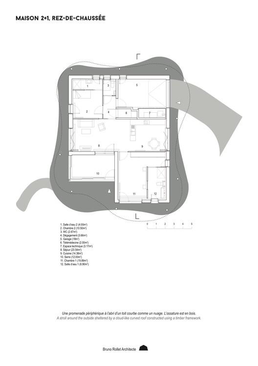 2+1 Main floor Plan