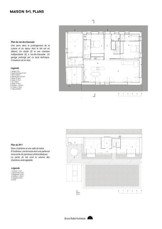 5+1 Main and first floors Plans
