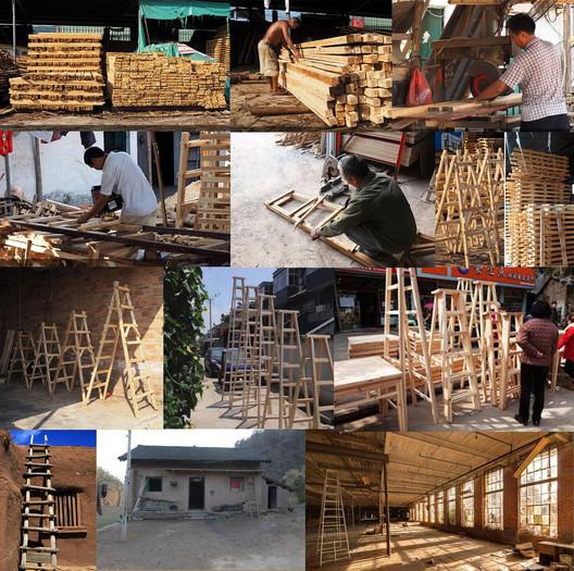 Chinese Ladders in Chinese Countries. Image © Wei Kang, Kexin Li, Xinyuan Cai, Yufei Shi