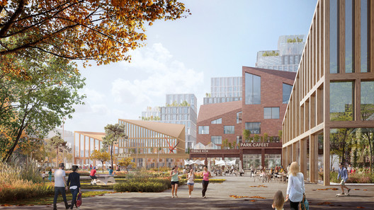 Tibble Masterplan. Image Courtesy of Henning Larsen