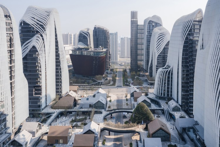 MAD Architects' Nanjing Zendai Himalayas Center Nears Completion in China, © CreatAR Images via MAD Architects