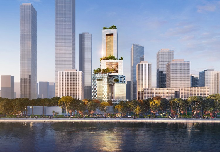 MVRDV Redefines the Skyscraper as a 3D City in Shenzhen, Vanke 3D City. Image © ATCHAIN