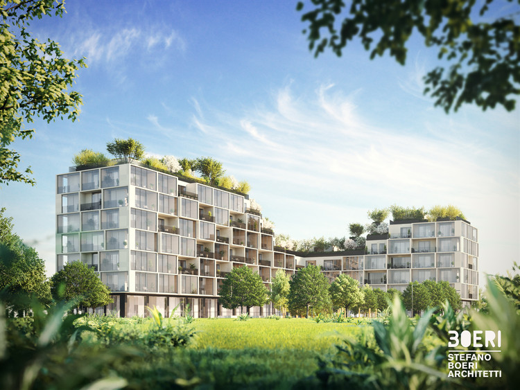 Stefano Boeri Designs the Greenest Apartment Building in Belgium, Palazzo Verde. Image Courtesy of Stefano Boeri Architetti