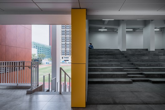 The indoor space adjacent to the stadium. Image © Qingshan Wu