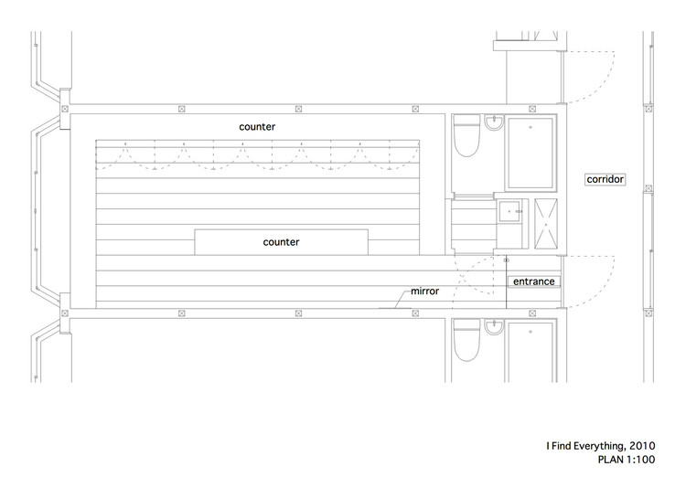 Retail Stores Under 100 Square Meters Examples In Plan And Section Archdaily