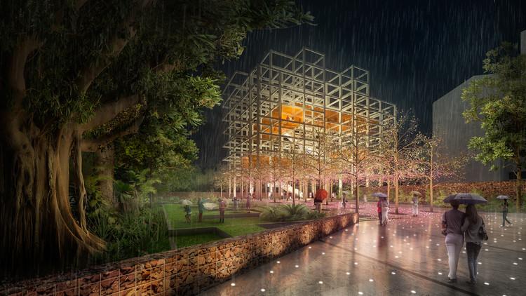 Esta es la propuesta de Taller Síntesis para el Edificio Mónaco en Medellín, Cortesía de David Cuartas