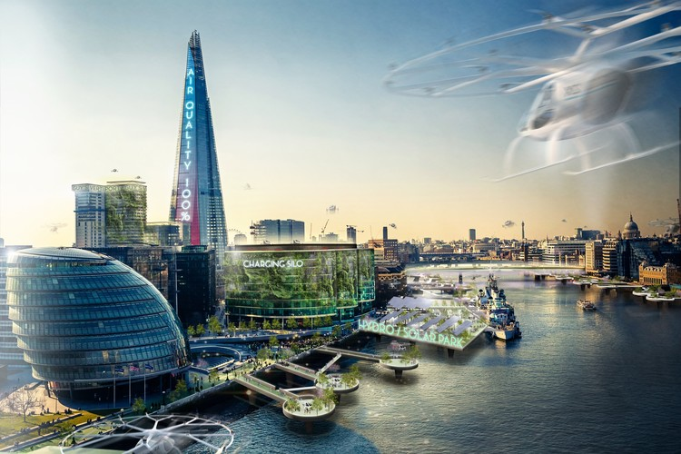 The Electric Automated Cities of the Future, According to Jaguar and Barr Gazetas, © Barr Gazetas