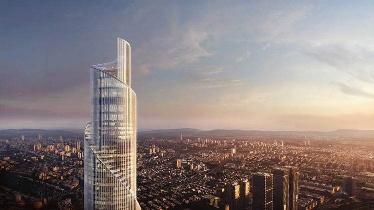 KPF's Spiraling Scroll Tower will be the Tallest Building in Tel Aviv, © KPF