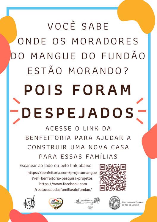 Arrecadação para Realocação das famílias do Mangue UFRJ