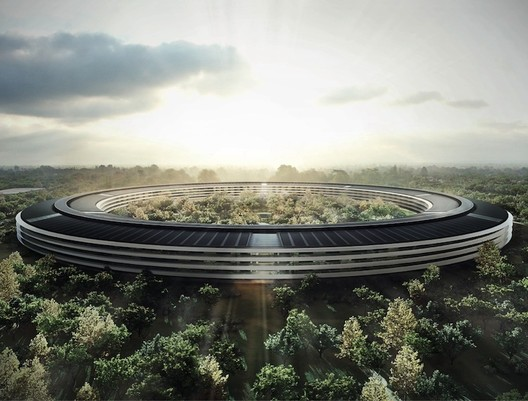 Apple opened its Foster + Partners-designed campus in California in 2017. Image © Foster + Partners, ARUP, Kier + Wright, Apple
