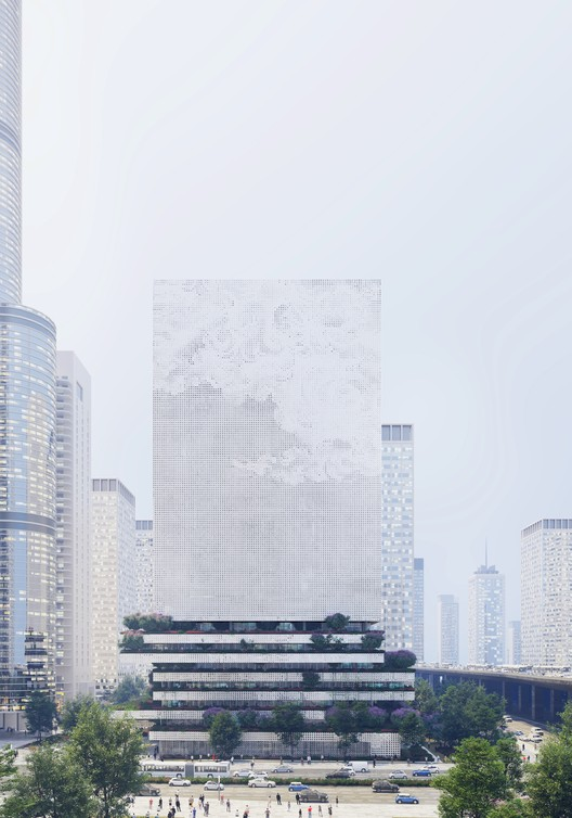 "Mecanoo's Qianhai Data Center is a ""Digital Lighthouse"" for Shenzhen, © Mecanoo"