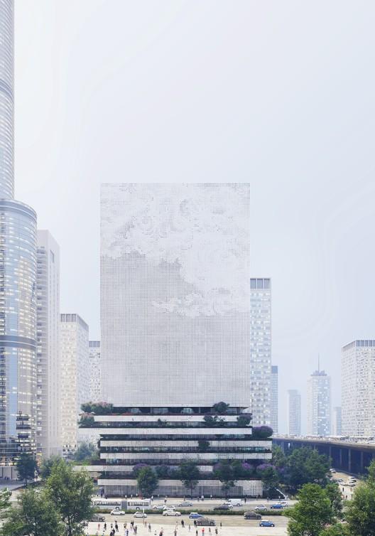 Mecanoo propone un 'faro digital' para el Qianhai Data Center en Shenzhen, © Mecanoo