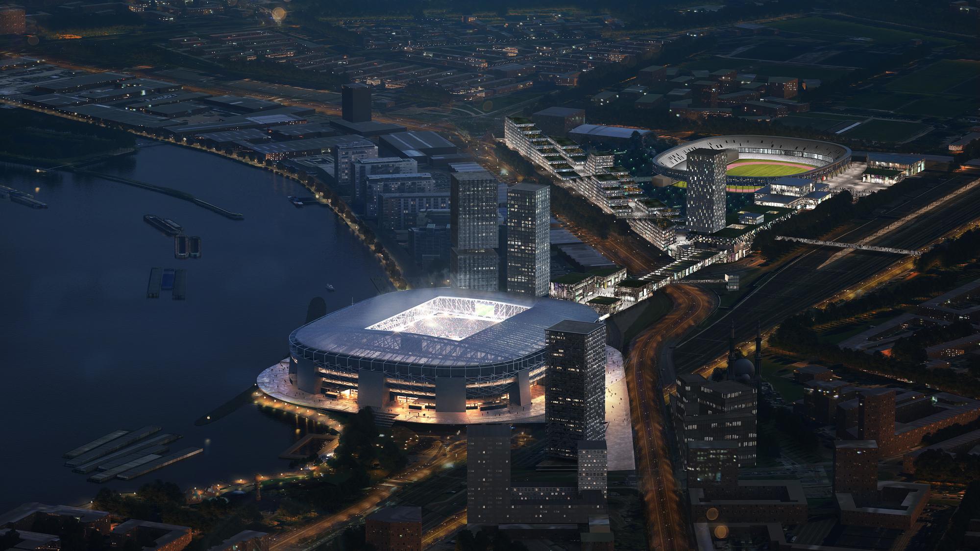 OMA Reveals New Feyenoord Stadium Design in Rotterdam | ArchDaily