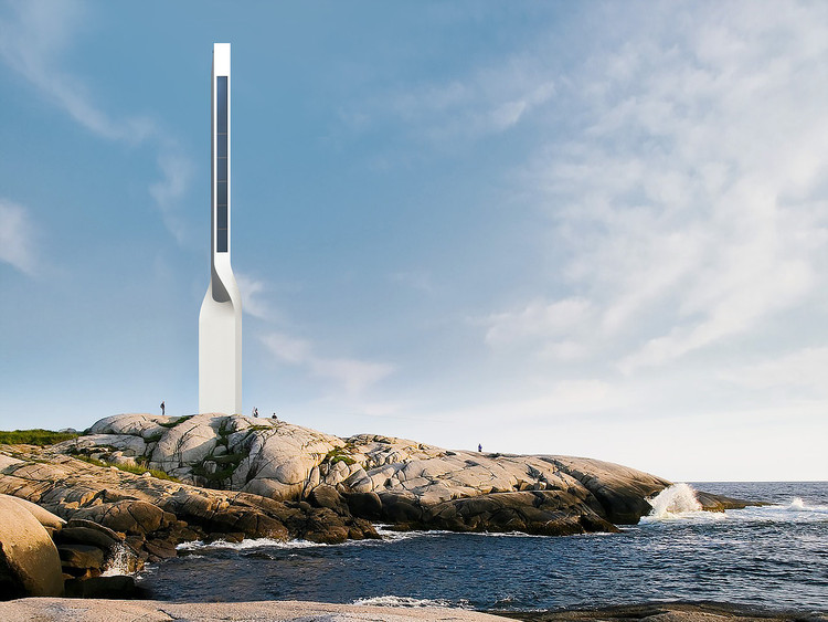 Andrea Cimini's Lighthouse Design Reinvents the Typology for the Age of GPS, via Andrea Cimini
