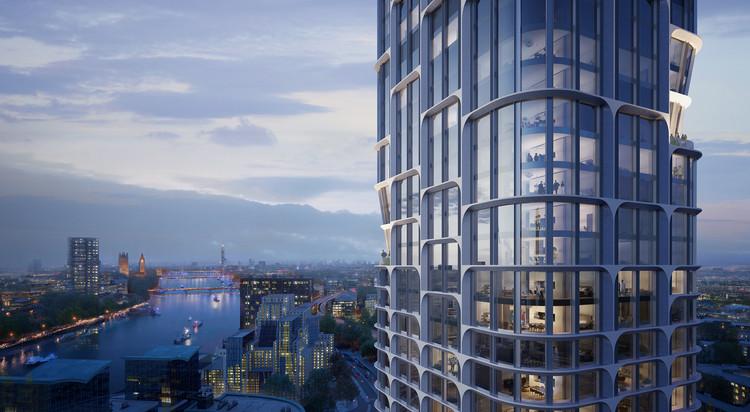 Dupla de arranha-céus projetada por Zaha Hadid Architects em Londres recebe aprovação, © Slashcube